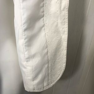 Studio Works Jackets & Coats - White Denim Eyelet Blazer Studio Works 10P Petite